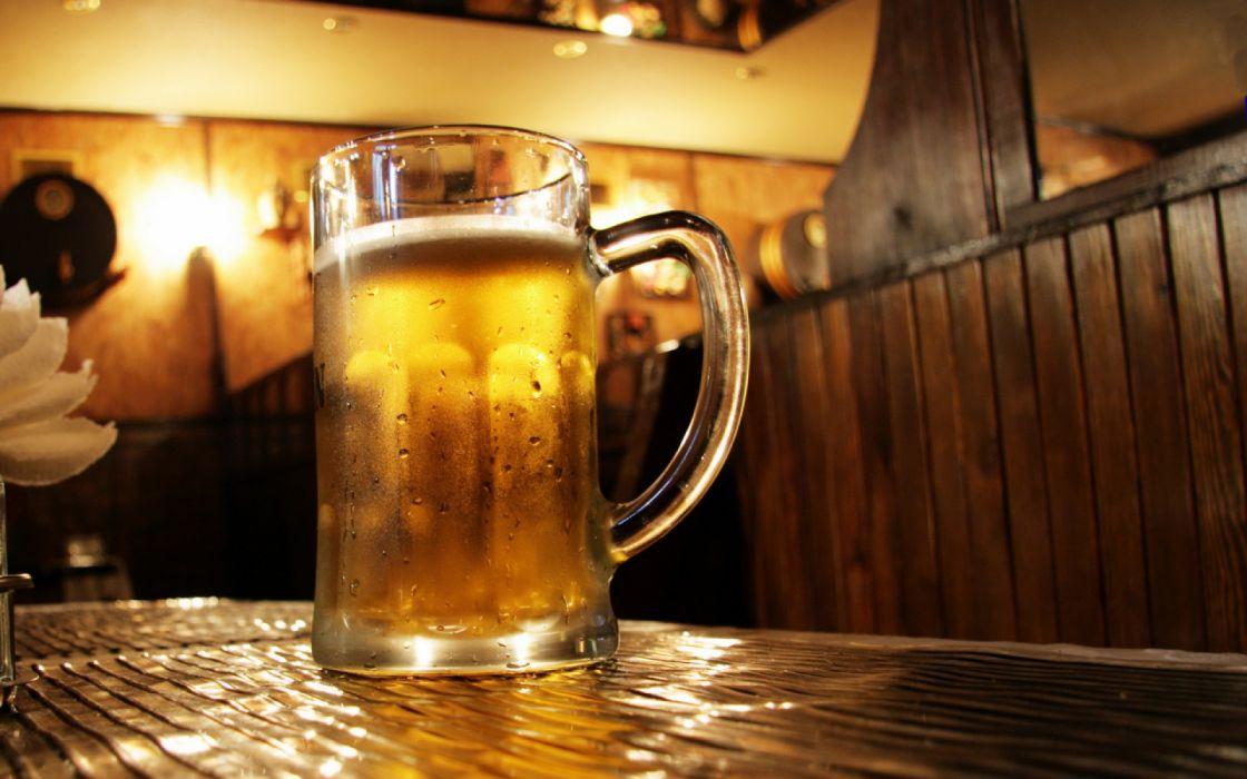jarra cerveza fresca vidrio wallpaper