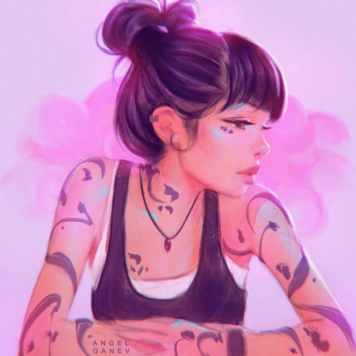 girls tattoo beautiful drawings objects wallpaper