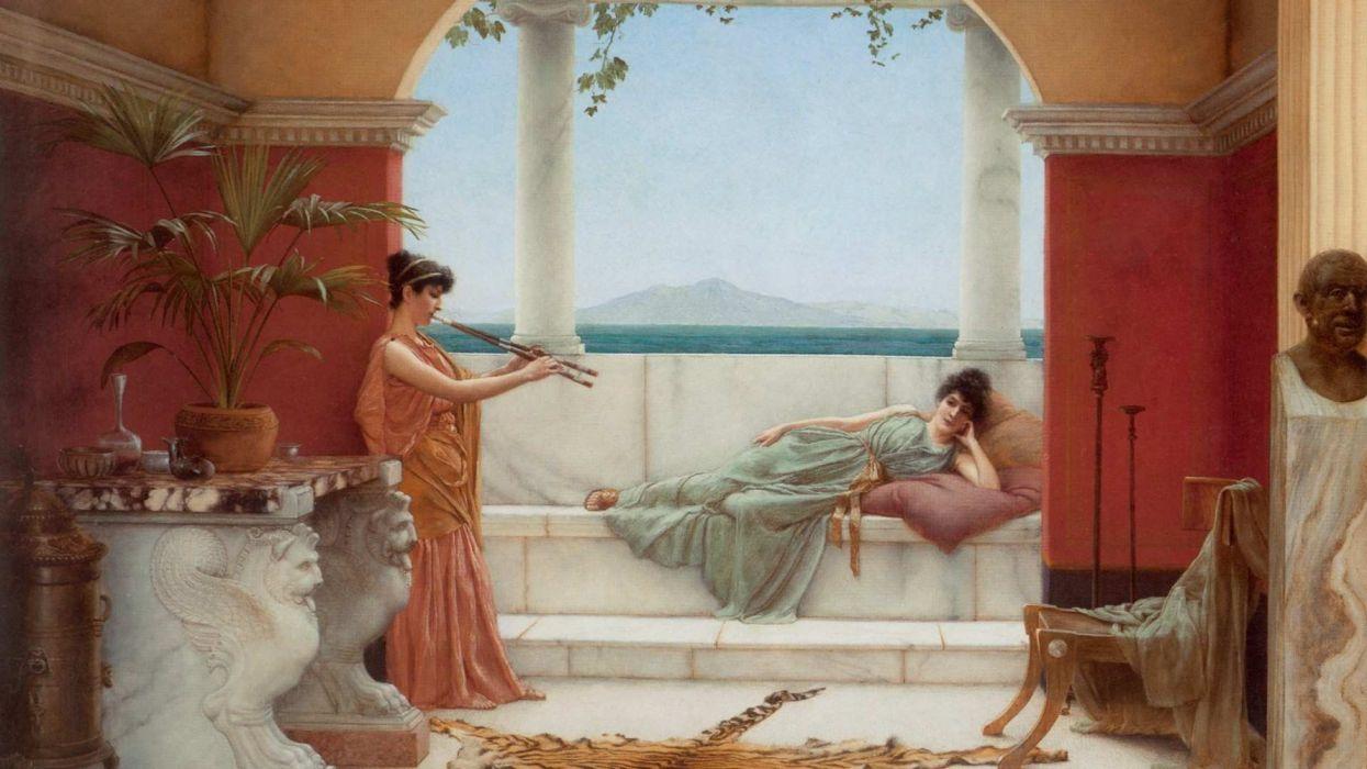unique classical painting roma arte wallpaper