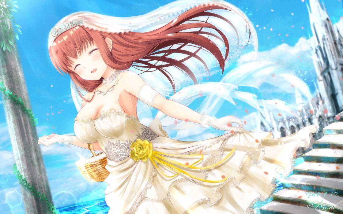 Konachan com - 270797 amatsu kanata girlfriend (kari) masa (mirage77) signed wedding attire wallpaper