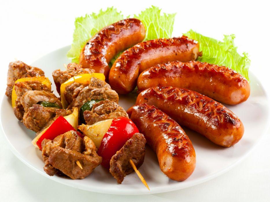 pinchos carne salchichas food wallpaper