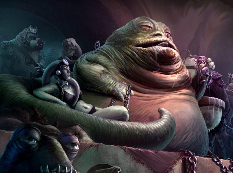 Jabba the Hutt palace comic wallpaper