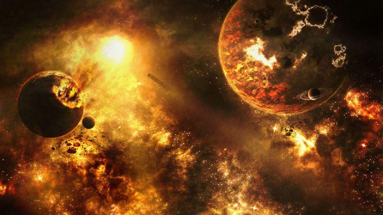 espacio planetas naturaleza meteoritos wallpaper