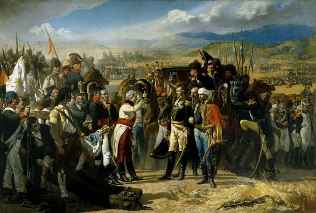 batalla bailen rendicion francia arte pintura wallpaper