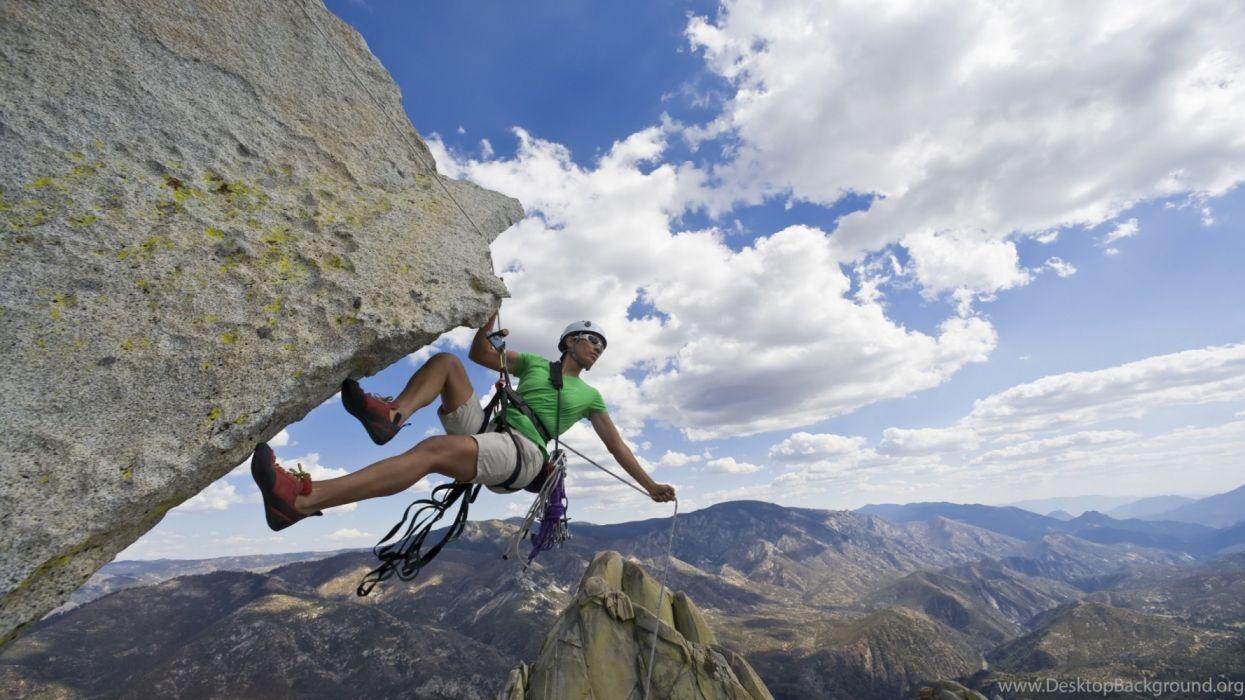 extreme sport rock climbing wallpaper