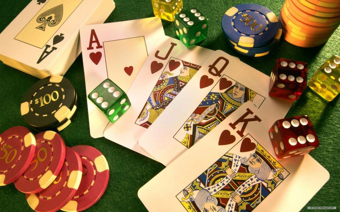 clasico juego casino poker dados fichas wallpaper