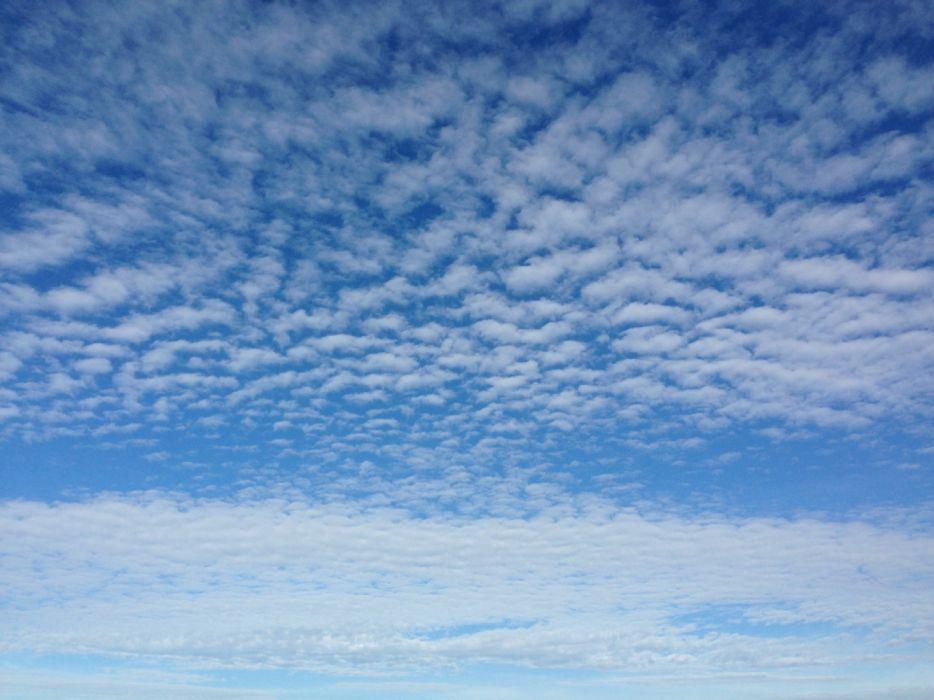 cielo azul nubes blancas naturaleza wallpaper