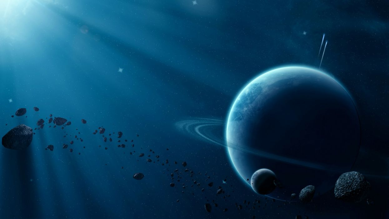 saturno satelites asteroides espacio naturaleza wallpaper