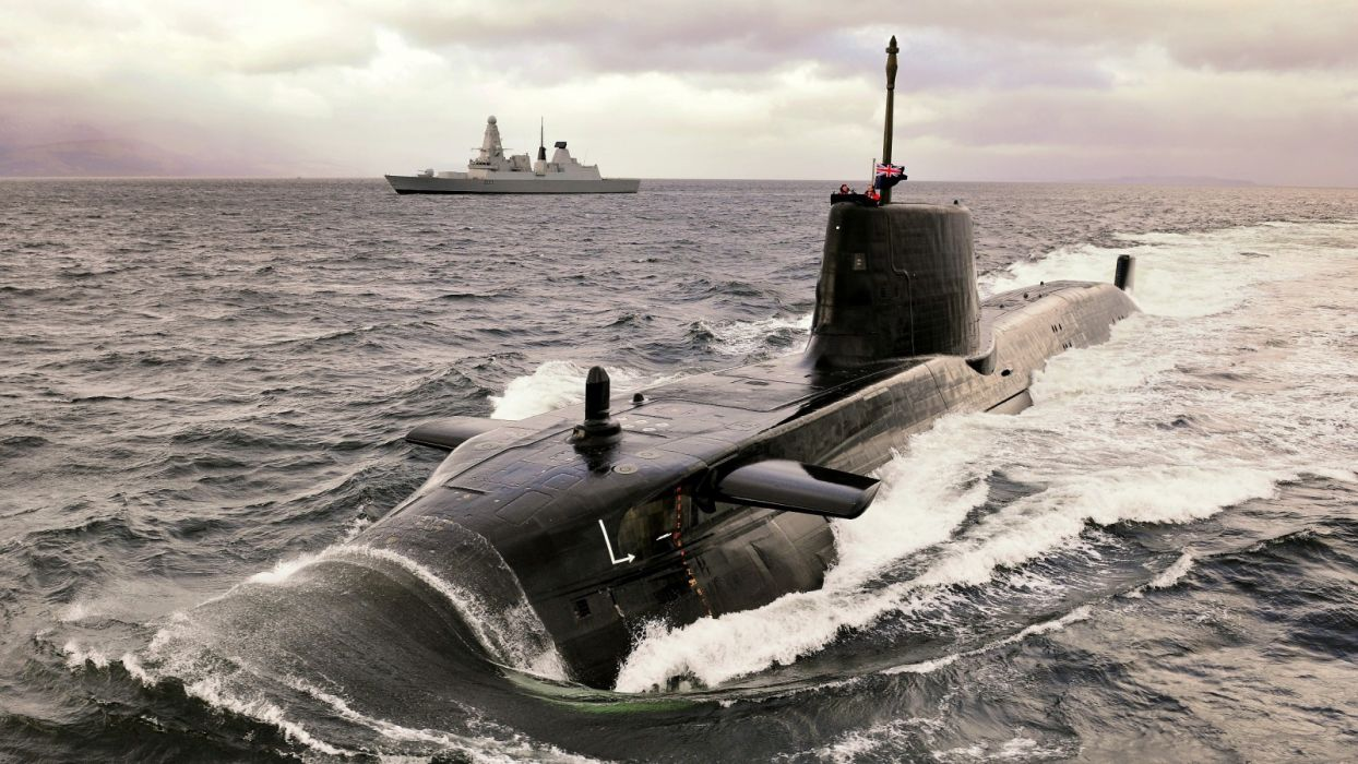 Astute class Submarine Destroyer military Navy Royal Navy ship submarine wallpaper
