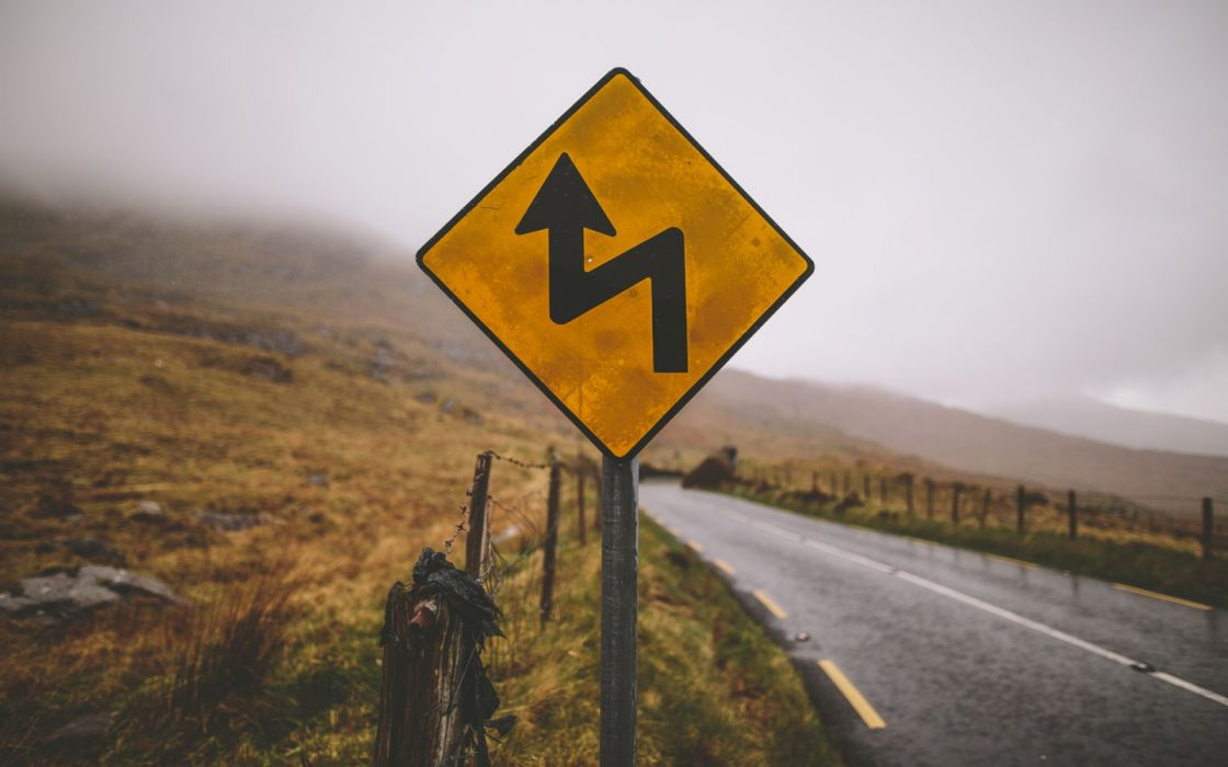 Road sign countryside wallpaper