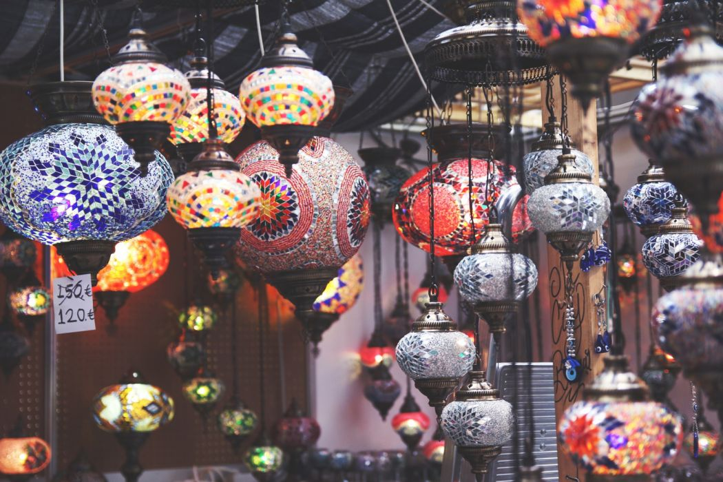 lantern lights oriental turkey turkish beauty nazar beads beautiful lamp turkish style wallpaper
