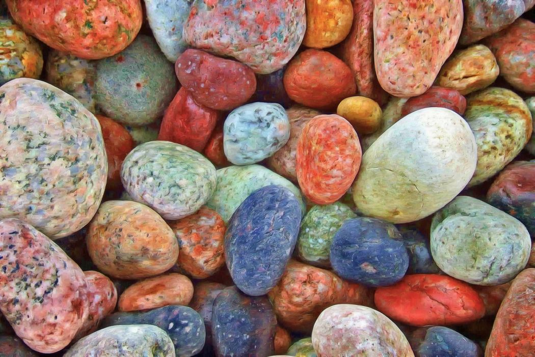 stones rocks pebbles tranquil zen balance natural harmony random chaos colorful wallpaper