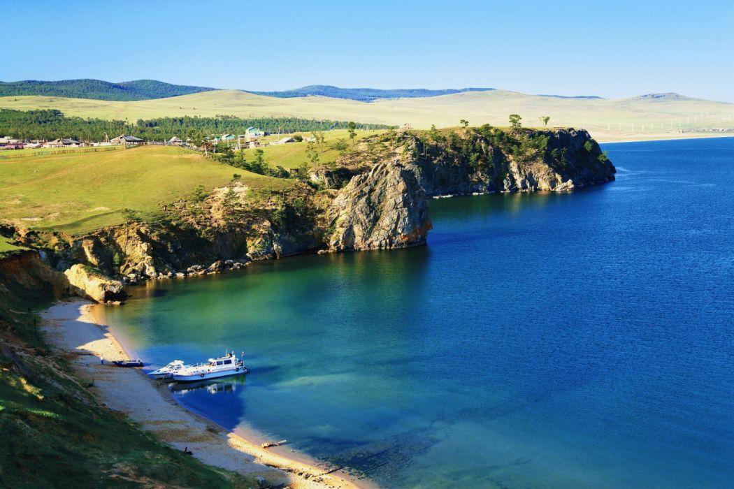 Baikal Russia beach landscape nature wallpaper