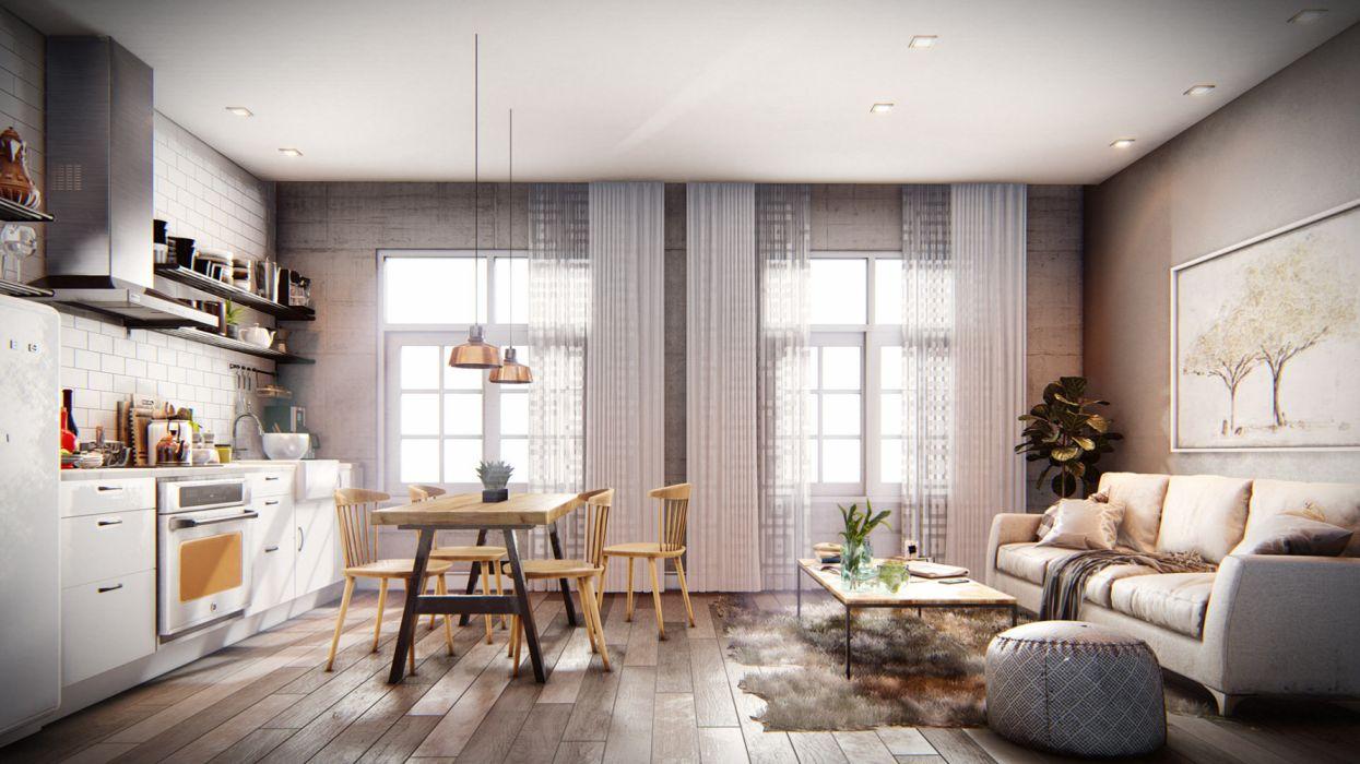 Cocina Render Interior Wallpaper 1920x1080 1309705 Wallpaperup