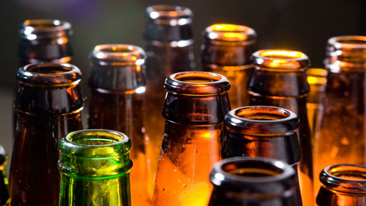 vidrio botellas cerveza bocas wallpaper