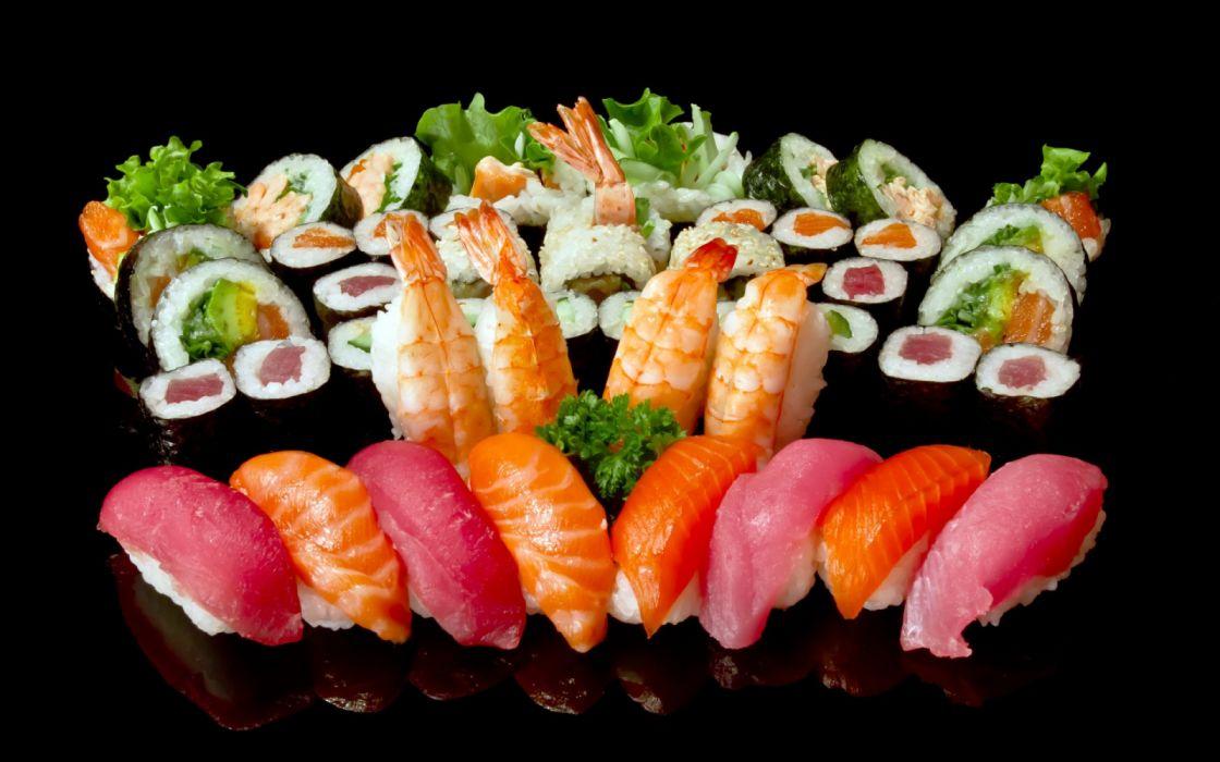 comida japonesa sushi pescado wallpaper