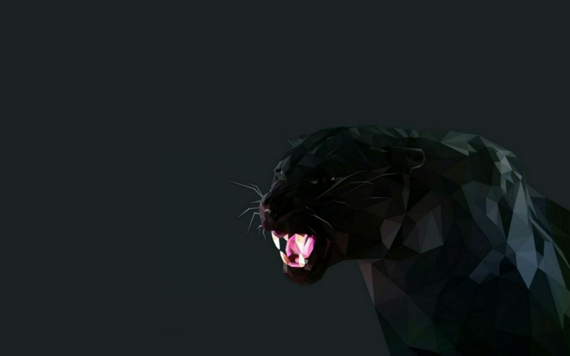 panther lowpoly low poly art graphics artwork black panther wallpaper