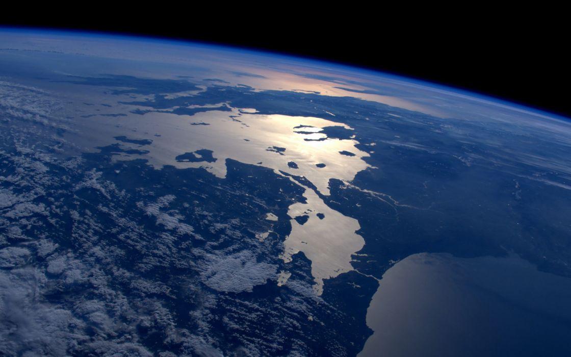 planet earth illustration International Space Station wallpaper