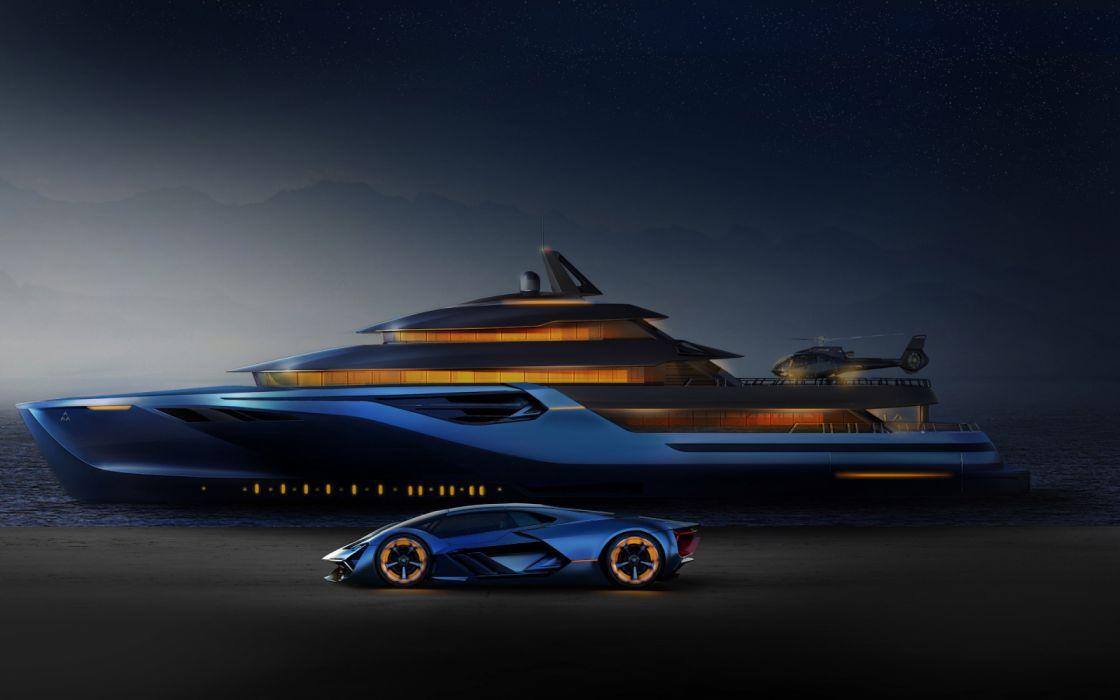 yacht vehicle lamborghini terzo millennio luxury yacht concept car wallpaper