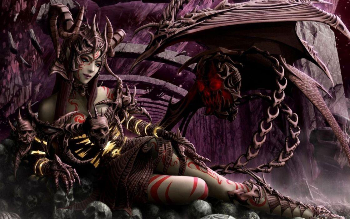 Succubus Fantasy Girl Fantasy Art Wallpaper 1600x1000 1314271 Wallpaperup