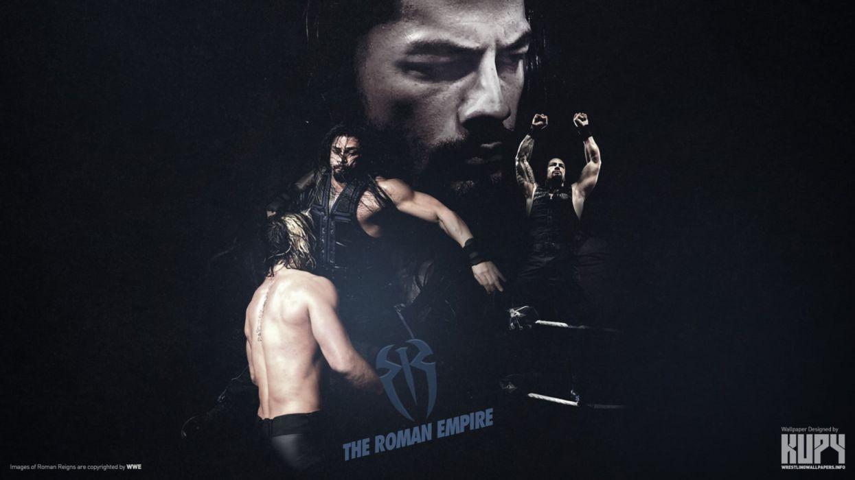 The Roman Empire Roman Reigns wallpaper WWE wrestling black background wallpaper