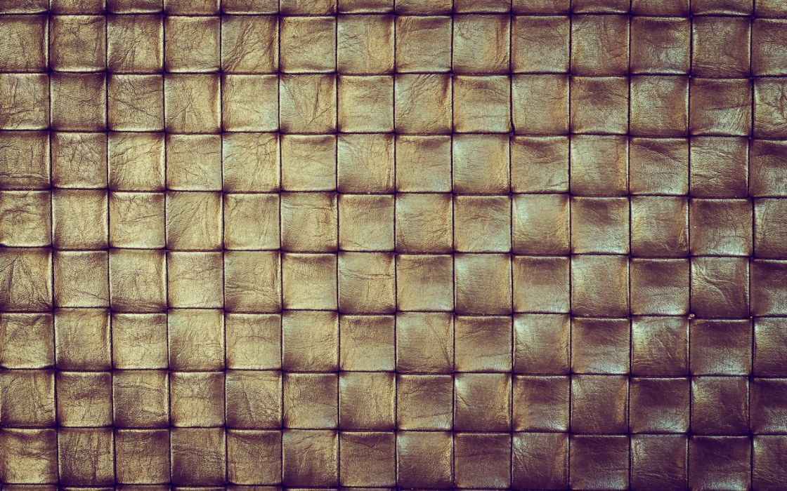 leather texture squares brown leather bronze fabric wallpaper