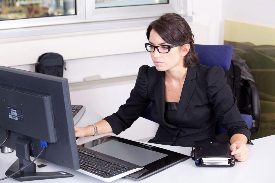 secretary computer trabajo entretenimiento wallpaper