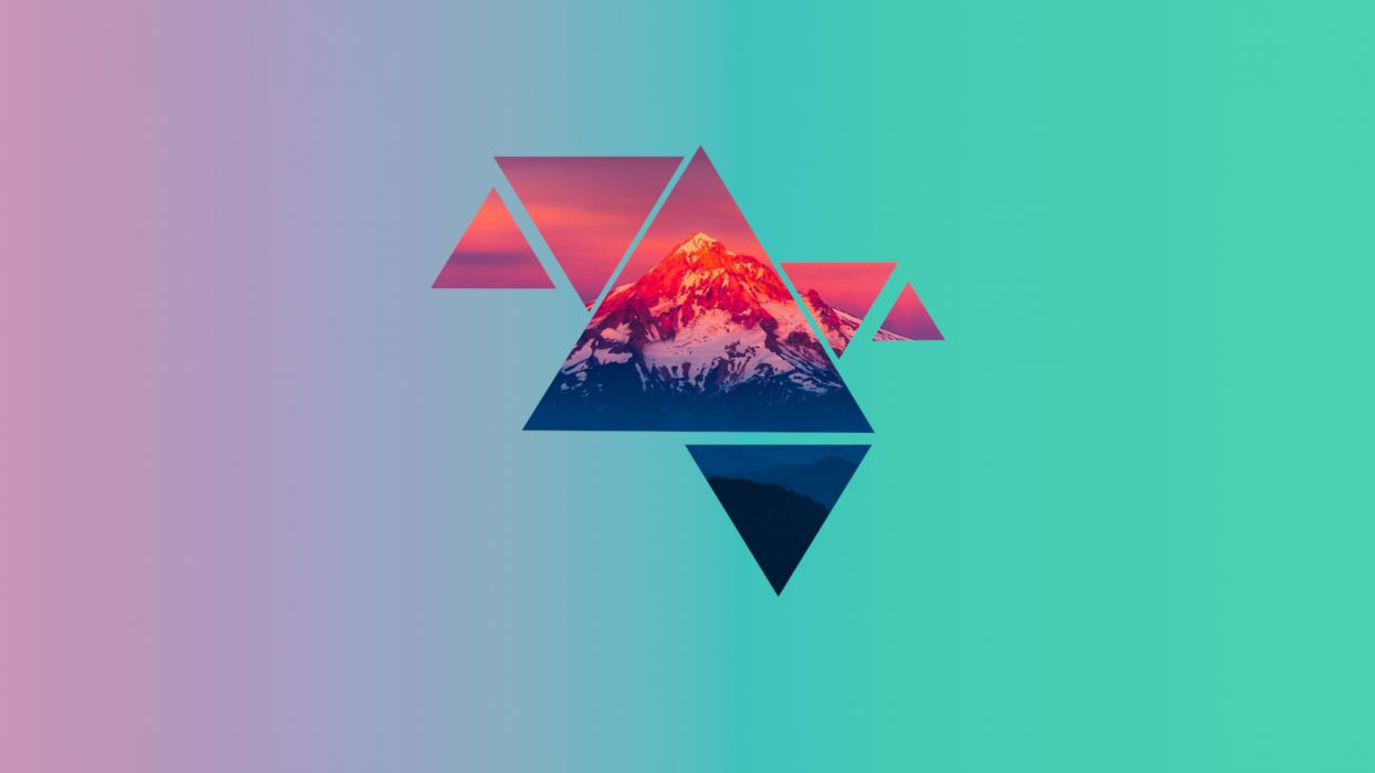 material mountains wallpaper