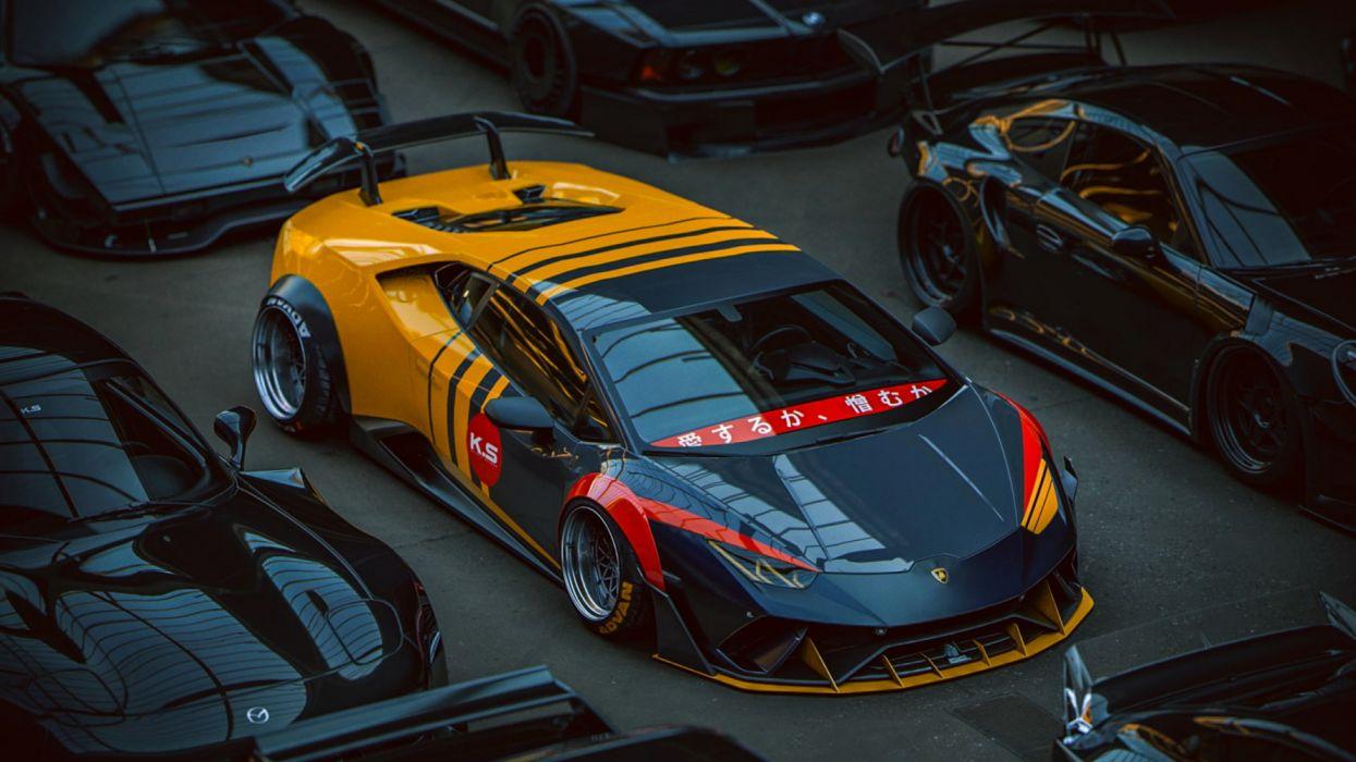 Yellow And Black Lamborghini Huracan Coupe Wallpaper