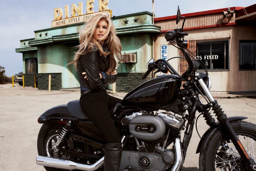 Moto harley davirson mujer rubia wallpaper | 1920x1280 | 1317980 ...