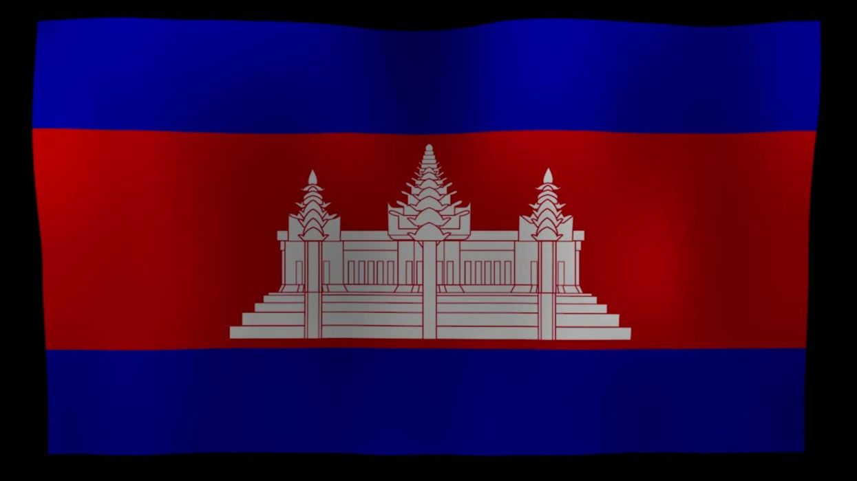 cambodia flag motion loop after effects template wallpaper