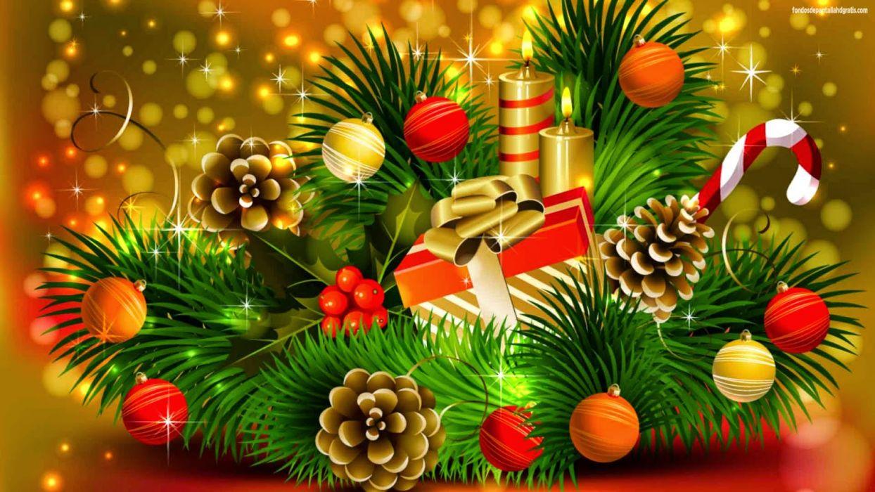 navidad adornos holiday wallpaper