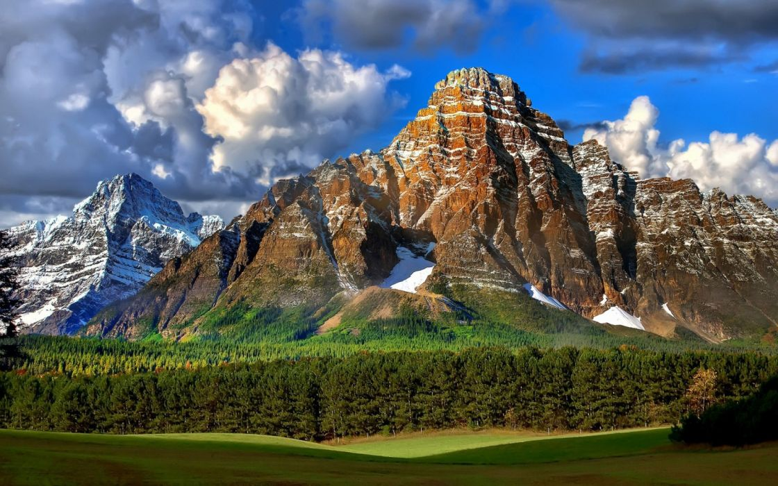 mountains nature Rocky forest wallpaper