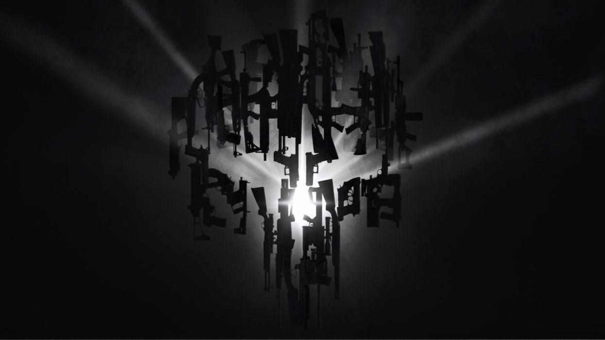 The Punisher Skull Logo 4k Hd Wallpaper Wallpaper