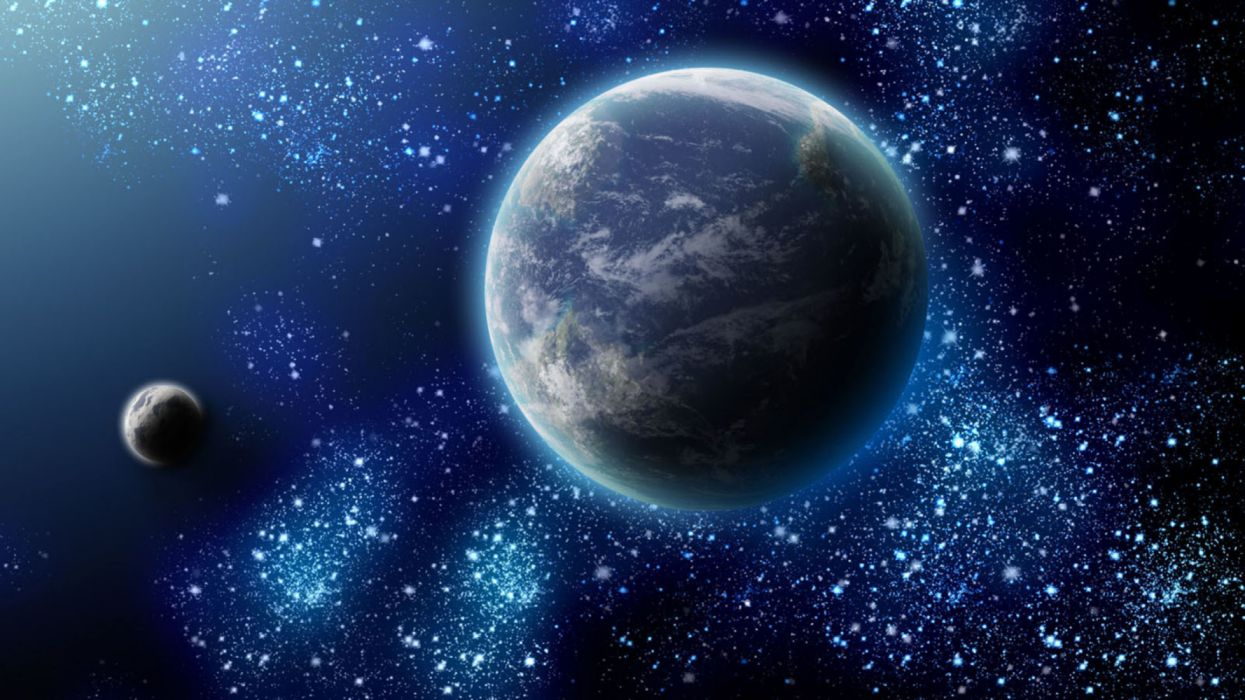planeta tierra luna espacio estrellas naturaleza wallpaper
