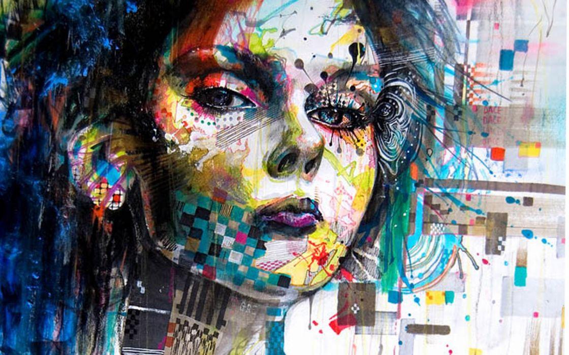 arte rostro mujer abstracto wallpaper