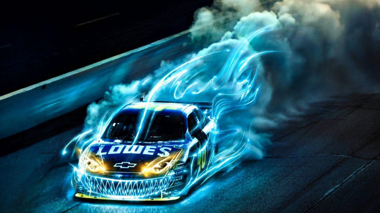 coche competicion abstracto 3 d wallpaper