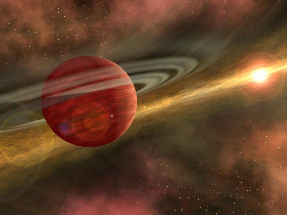 saturno planeta anillos espacio naturaleza wallpaper