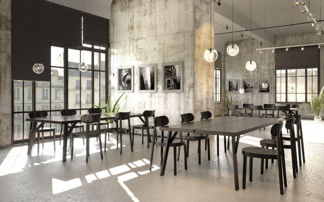 salon comedor interior disey wallpaper