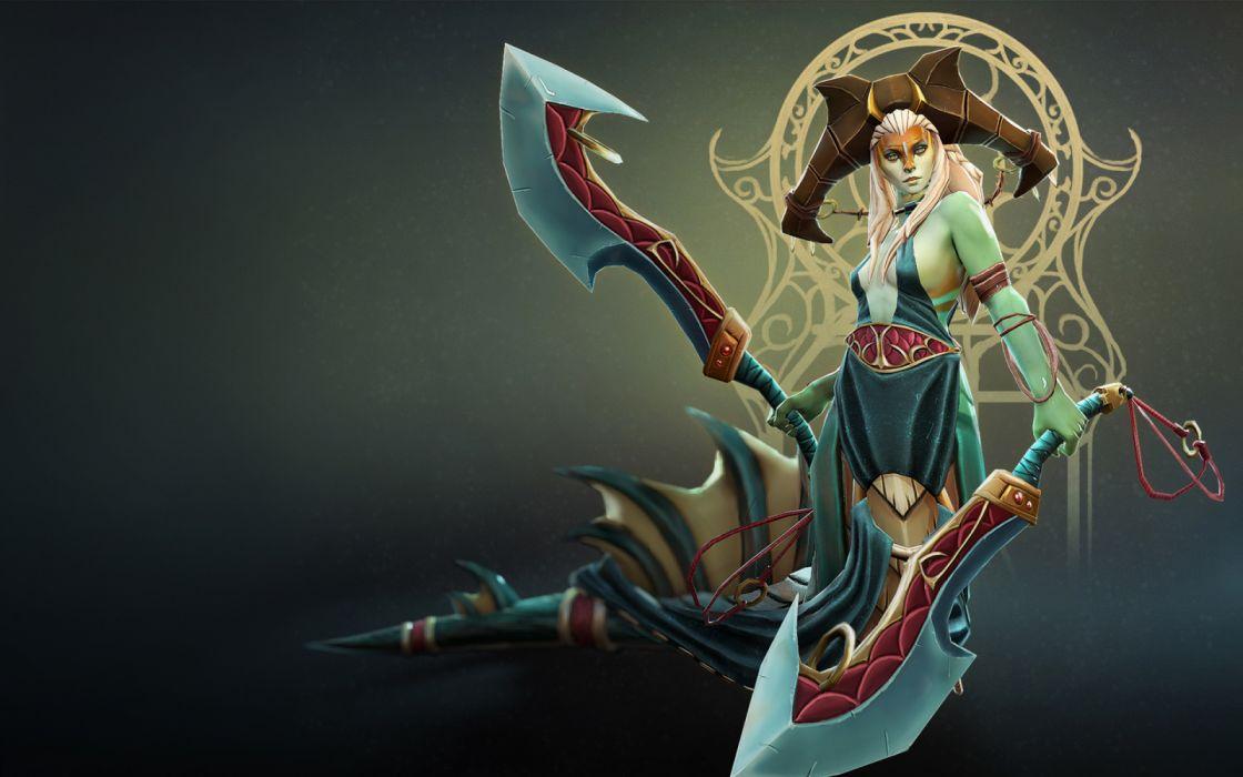 Naga Siren fantasy wallpaper