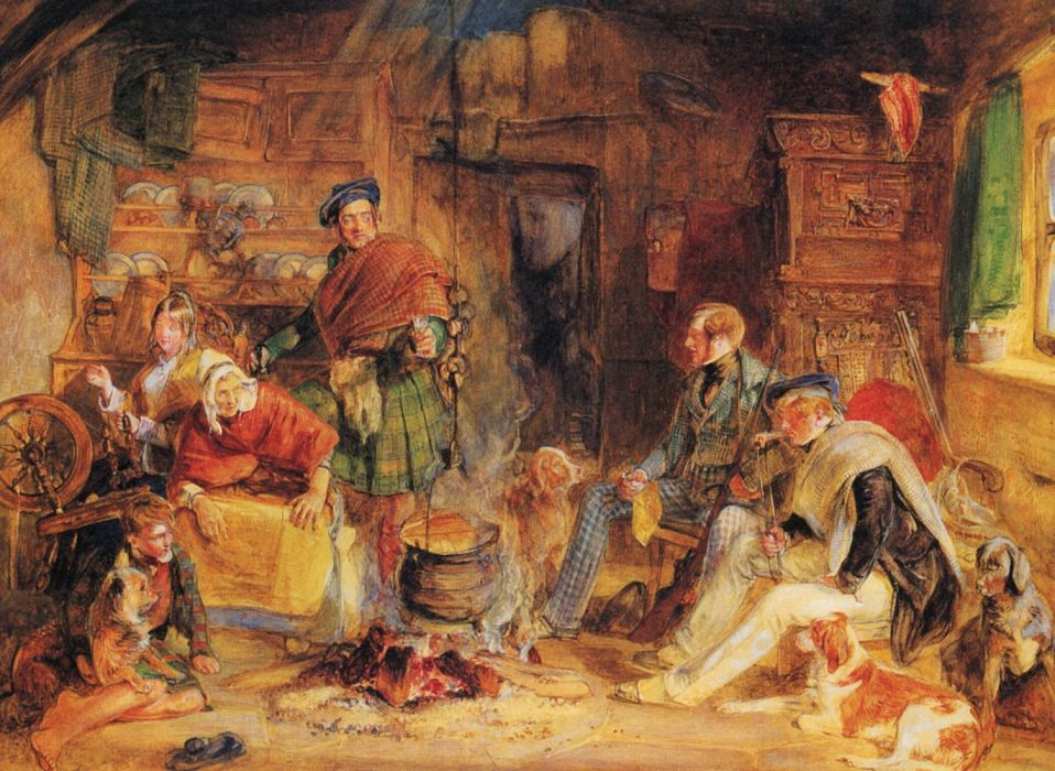 arte  pintura familia escocesa wallpaper