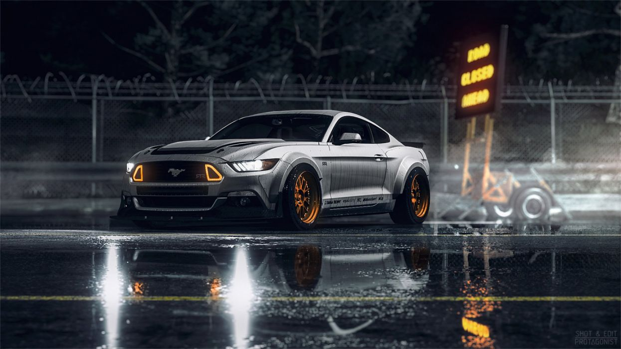coche ford mustang parking wallpaper