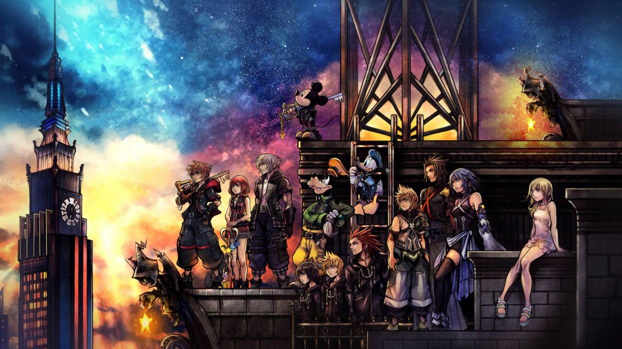 kingdom heats 3 videogames wallpaper