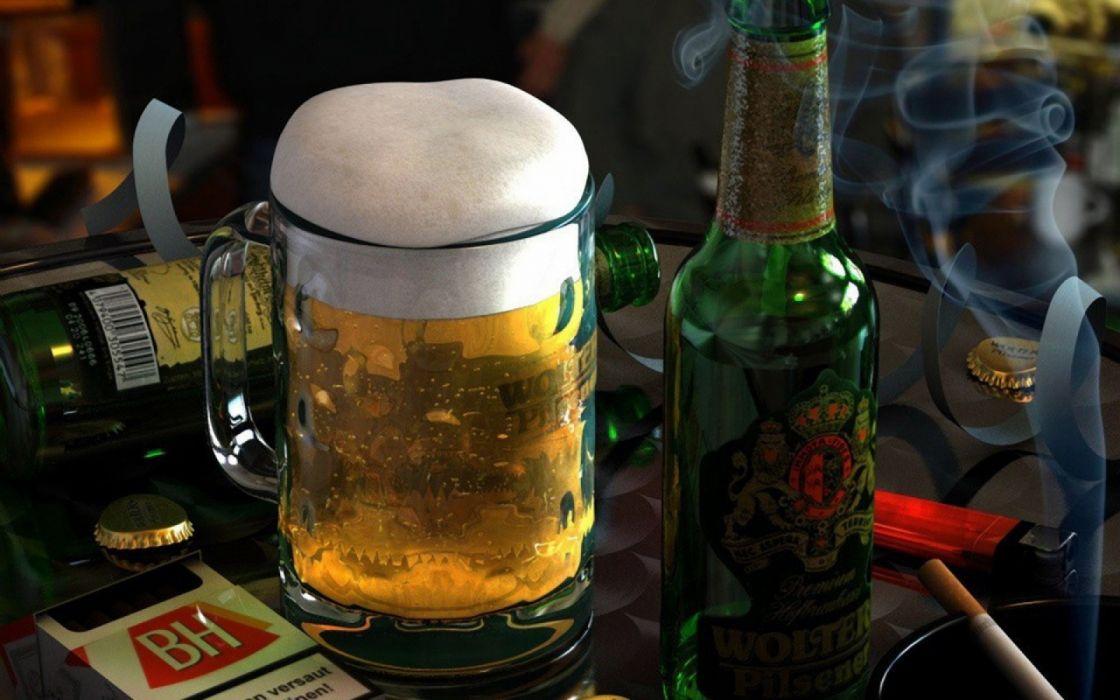 jarra cerveza botellines vidrio wallpaper