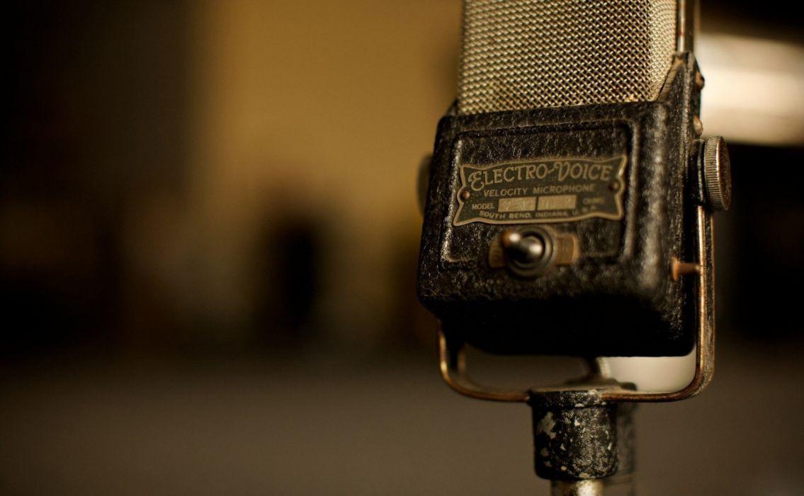 microphone vintage tecnologia wallpaper