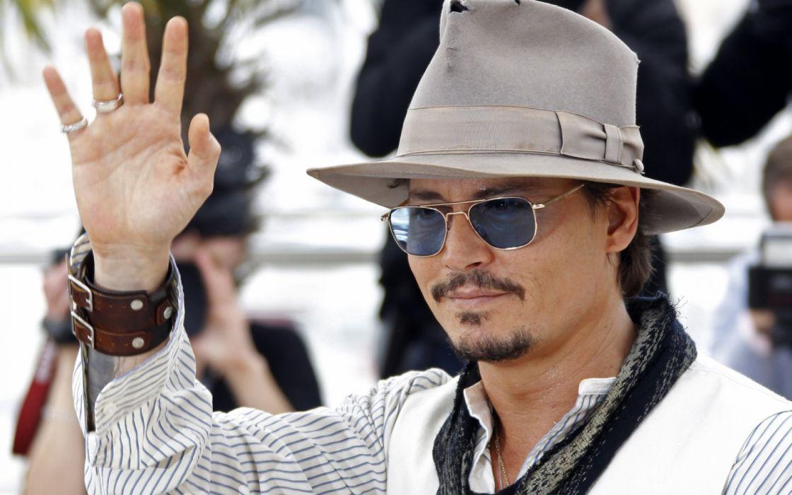 johnny depp gafas sombrero actor americano wallpaper
