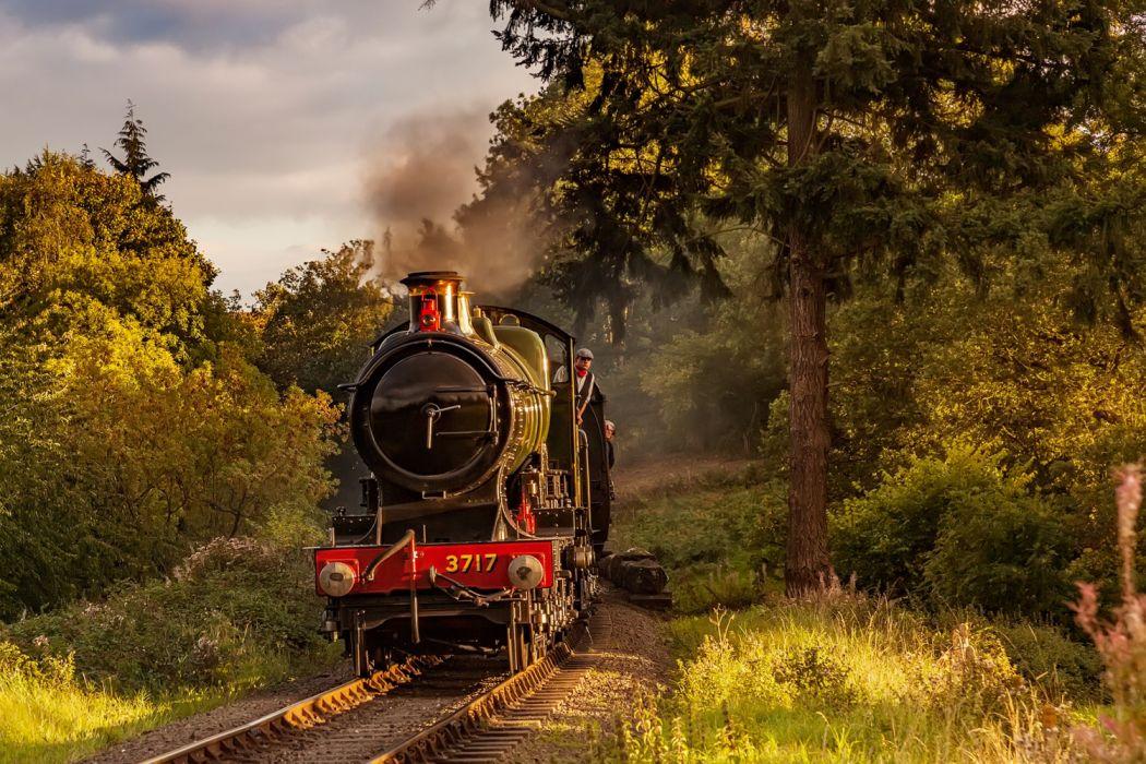 tren vapor locomotora naturaleza wallpaper