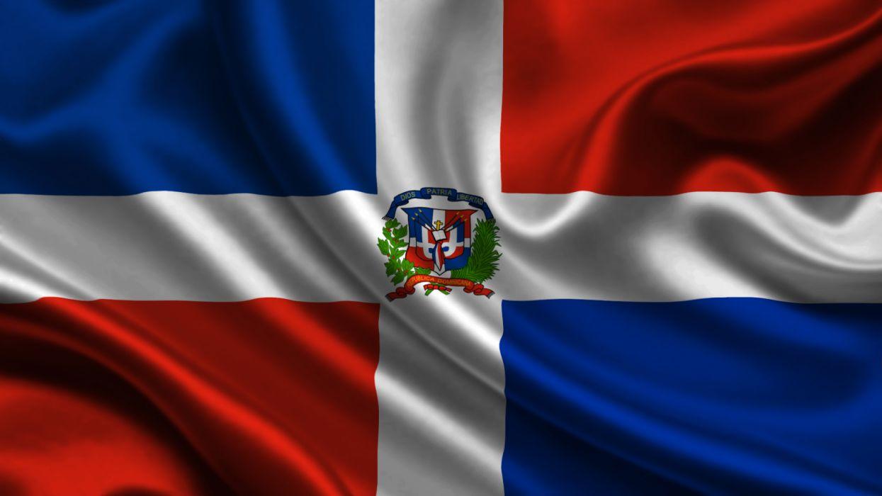 flag republica Dominicana centro America wallpaper