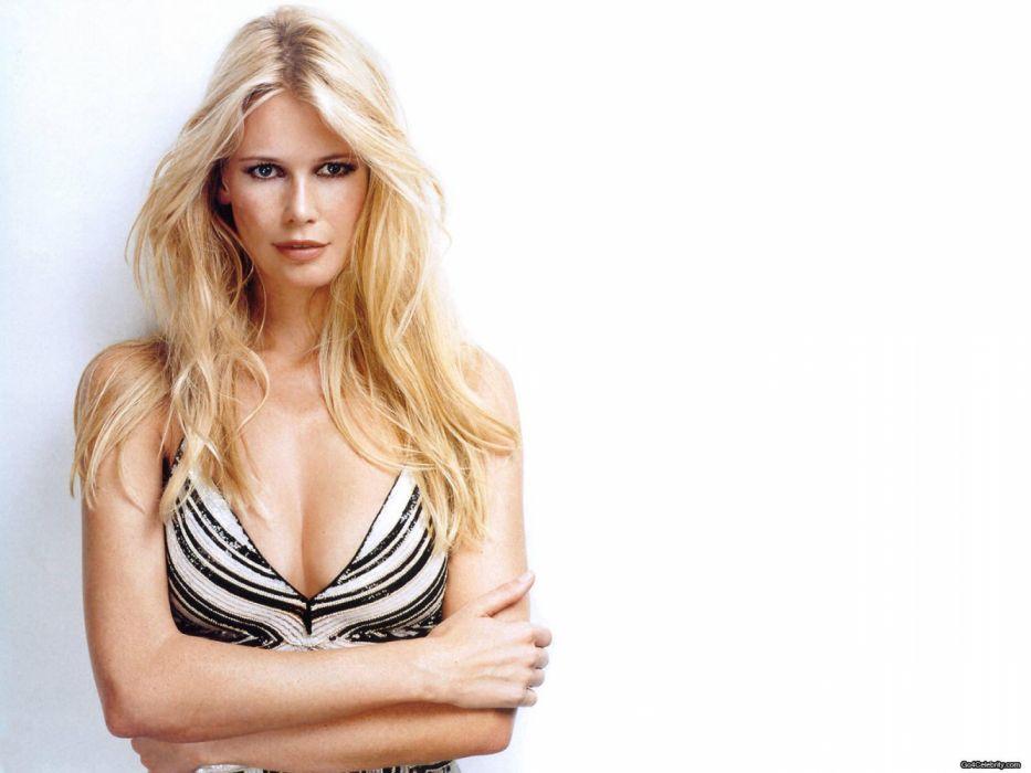 Claudia Schiffer modelo alemana mujer celebridad wallpaper