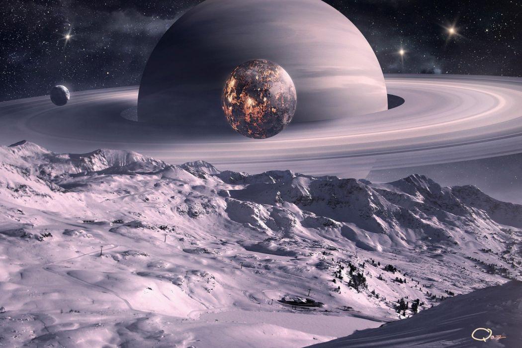 planeta saturno aros espacio naturaleza wallpaper